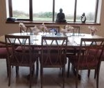 Dining table and Clew Bay
